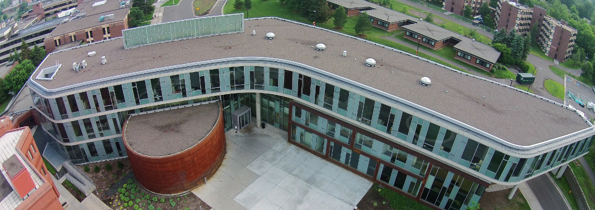 Aerial view of LSBE building