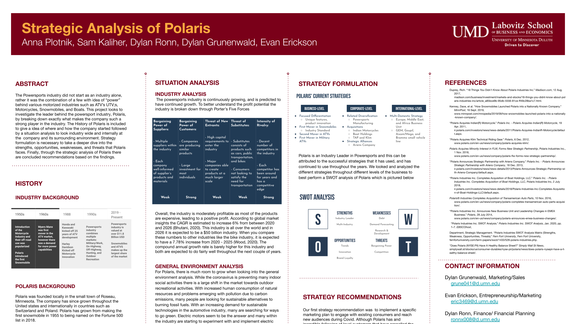 Strategic Analysis of Polaris poster