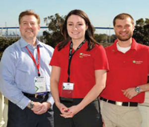 Richard Brown, CEO JNBA, and students, Liz Olson and Eric Klose.