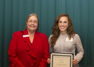 David A. Singer Memorial Scholarship - Dean Amy B. Hietapelto and Hannah Keil