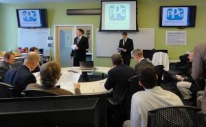 Financial Market students presenting