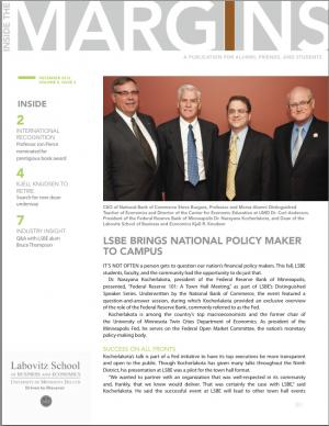 December 2012, LSBE Newsletter, Volume 8, Issue 2