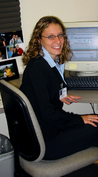 Female LSBE student sitting at desk