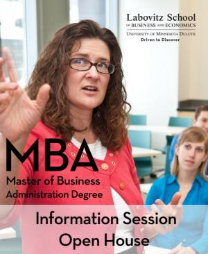MBA Information Session Open House