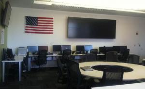 Wells Fargo lab Rise Display wall