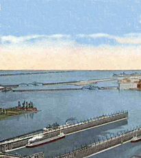 Historic picture of Duluth's ore docks