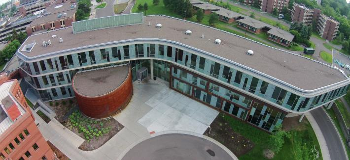 Aerial of LSBE building