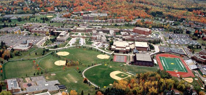 Aerial of University of Minnesota Duluth campus