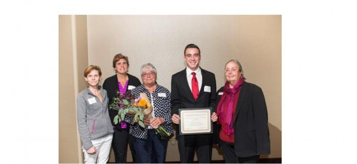 John  and Carol Lilyquist Family Scholarship - Dean Amy B. Hietapelto, Brandon Evancevich, Carol Lilyquist, Karen Lilyquist and Mary Jo Krolak