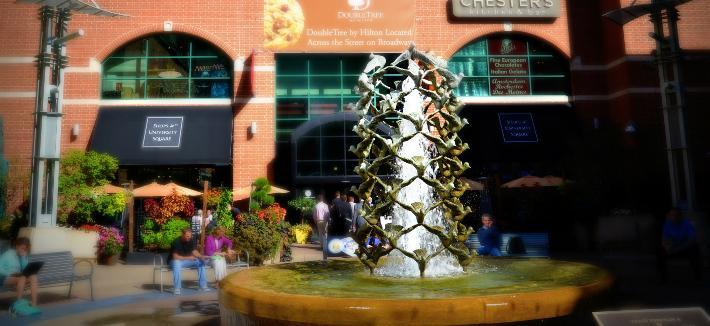 University Square fountain