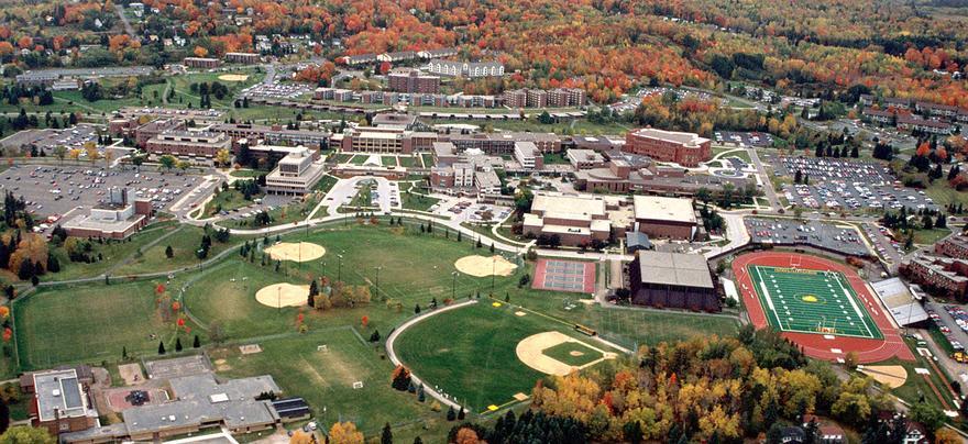Aerial of University of Minnesota Duluth campus