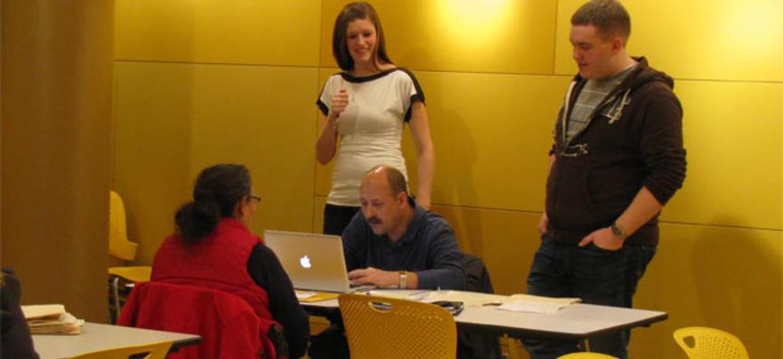 Randy Skalberg and VITA students