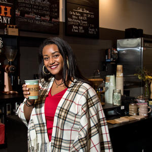 Persabelle Debela at Duluth Coffee Company