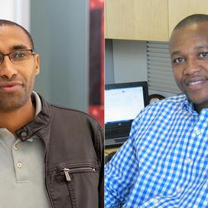 Melaku Abegaz and Gibson Nene LSBE professors
