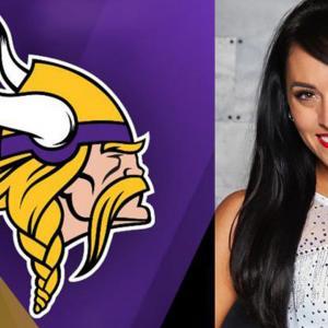 Minnesota Vikings Logo and photo of Jacqui