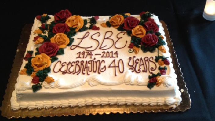 LSBE 40th anniversary cake