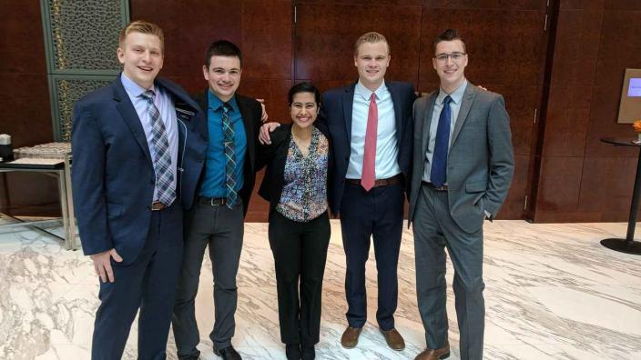 Members of the Financial Markets CFA Challenge Team