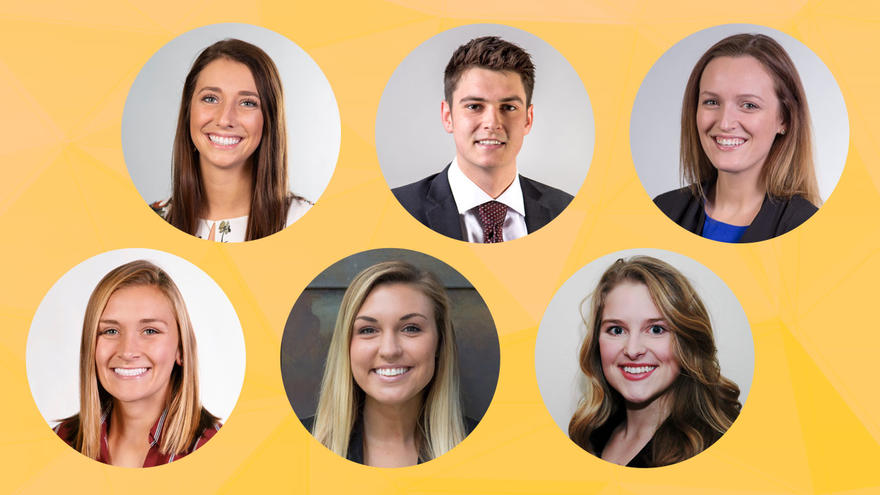 Six LSBE students who will be working at 3M through the Frontline Sales Program