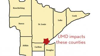 Arrowhead region map plus douglas