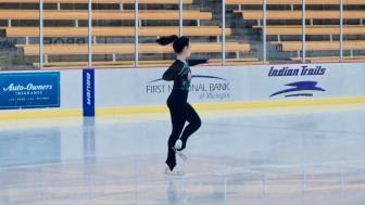 Kiana Stadler on the ice