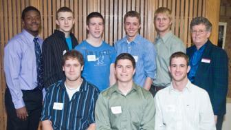 McIsiah Kendema, Devin Rhode, Andy Grengs, Ryan Rivard, Gavin Wagoner, and Pat Borchert, Jared Freudenberg, Ian Prock, and Marcus Koplitz.