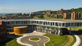 LSBE building and lake