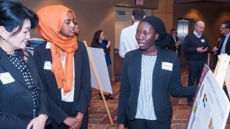 Ariuna Taivan, Fardowsa Abdinoor and Stephenie Cole