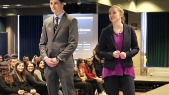 Students at Dress for Success event