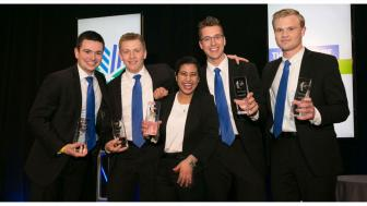 Financial Markets Team with Trophies