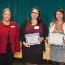 Dean Hietapelto, Lindsey Bennett, and Caitlin Wahouske