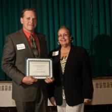 Charles & Sharon Anderson Entrepreneur Scholarship - Isaac Beckel and Dean Amy B. Hietapelto