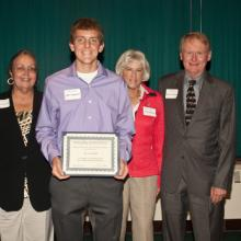 Karen S. & Charles H. Andresen Scholarship - Dean Amy B. Hietapelto and Aaron Handorff with the Andresen's