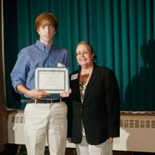 Jeffrey Hovis Business & Environmental Studies Scholarship - Aaron Wilhelmi and Dean Amy B. Hietapelto