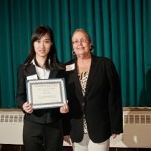 Janet Jasper Scholarship - Jianli Yang and Dean Amy B. Hietapelto
