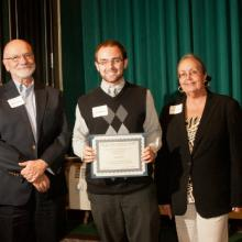 Carolyn and Richard Lichty Scholarships in Economics - Rick Lichty, Luke Merrill, and Dean Amy B. Hietapelto