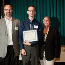 maurices ReMAP Scholarship - Eric Biebelnieks, Aaron Shepanik, and Dean Amy B. Hietapelto