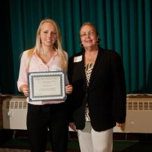 UMD Meyer/Shogren Scholarship - Carly Neuman and Dean Amy B. Hietapelto