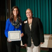 David A. Singer Memorial Scholarship - Jessica Pollnow and Dean Amy B. Hietapelto