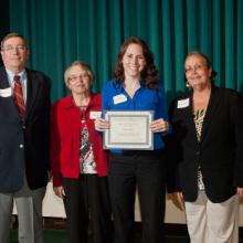 L.J. Syck Scholarship - Lawrence Syck, Fran Syck, Karisa Richard, and Dean Amy B. Hietapelto