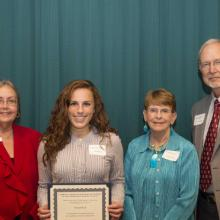John W. and Diane E. Newstrom Scholarship - Dean Amy B. Hietapelto, Hannah Keil, and Diane and John Newstrom