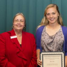Jack Watson Memorial Scholarship - Dean Amy B. Hietapelto and Riley Allen