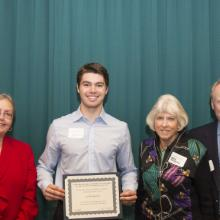 Karen S. and Charles H. Andresen Scholarship - Dean Amy B. Hietapelto, Jared Klapperich, and Karen and Charles Andresen