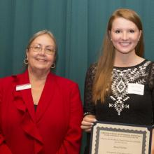 Matthew G. Chutich Memorial Scholarship - Dean Amy B. Hietapelto and Alexa Fletcher
