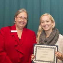 Gerald and Janet Engberg Accounting Scholarship - Dean Amy B. Hietapelto and Julia Kreibich