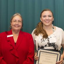 George and Elizabeth Goldfarb Scholarship - Dean Amy B. Hietapelto and Kaylene Born
