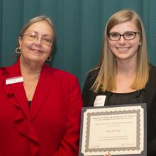 Jordan L. Holt Memorial Scholarship - Dean Amy B. Hietapelto and Abby Sylvester