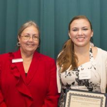 Mariia Kouznetsova/ Springcreek Scholarship - Dean Amy B. Hietapelto and Kaylene Born