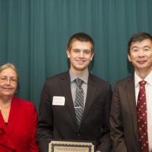 Dahui/ Kexin Li Scholarship - Dean Amy B. Hietapelto, Slava Ivchenkov, and Dahui Li