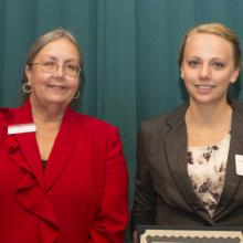 Meyer-Shogren Scholarship - Carly Newman and Dean Amy B. Hietapelto