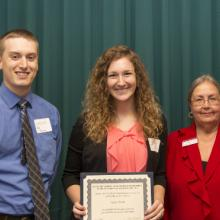Northland Human Resource Association (NHRA) Scholarship - Taylor Dame, Arik Forsman, and Dean Amy B. Hietapelto